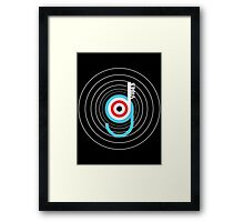 good vibes typography black white red blue circles Framed Print