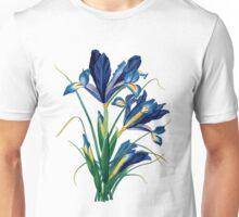 Vintage - Flower - TIR - Blue Iris Unisex T-Shirt