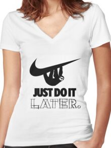 Later! Women's Fitted V-Neck T-Shirt