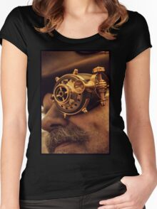 Steam punk pirate Women's Fitted Scoop T-Shirt