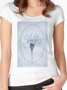 Carnation Cyanotype Women's Fitted Scoop T-Shirt