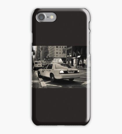 New York city taxi iPhone Case/Skin