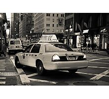 New York city taxi Photographic Print