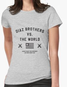 Diaz Brothers Nick And Nate VS. The World Womens Fitted T-Shirt