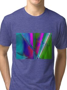 abstract spirograph background Tri-blend T-Shirt