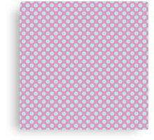 Polka Dot Pink Blue Pastel Pattern Canvas Print