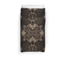 Brown Zebra Cat Paws Abstract Pattern  Duvet Cover