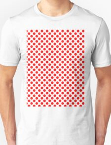 Polka Dot Red and White Pattern Unisex T-Shirt