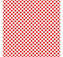 Polka Dot Red and White Pattern Photographic Print