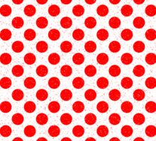 Polka Dot Red and White Pattern Sticker