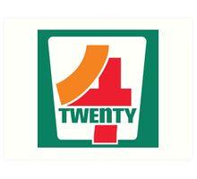 4-Twenty 7-Eleven Art Print