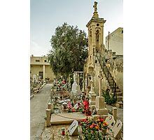 Cemetery in Malta Photographic Print