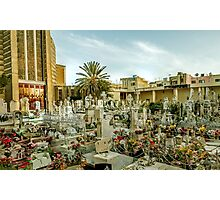 Old cemetery in Malta Photographic Print