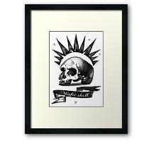 misfit skull Framed Print