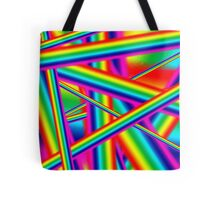 Bright Psychedelic Rainbow  Tote Bag