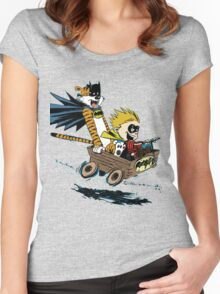 Calvin Hobbes Explore Women's Fitted Scoop T-Shirt