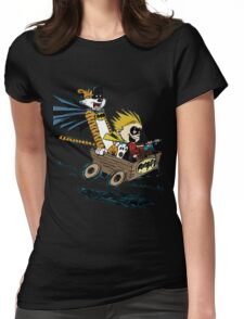 Calvin Hobbes Explore Womens Fitted T-Shirt