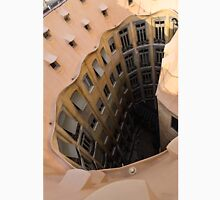 The Lost Straw Hat - Antoni Gaudi's La Pedrera Courtyard From Above - Vertical Unisex T-Shirt