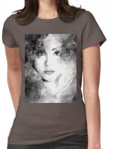 Beautiful woman face. Abstract fashion illustration Womens Fitted T-Shirt