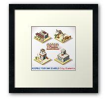 Western Rural Pueblo Tiles Framed Print