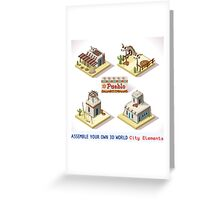 Western Rural Pueblo Tiles Greeting Card