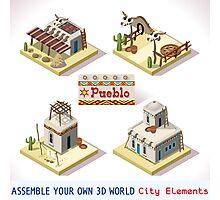 Western Rural Pueblo Tiles Photographic Print