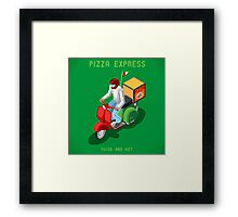 Pizza Scooter Express Framed Print