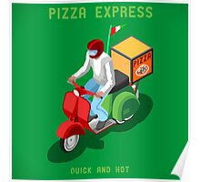 Pizza Scooter Express Poster