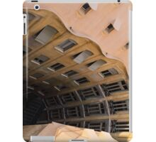 The Lost Straw Hat - Antoni Gaudi's La Pedrera Courtyard From Above - Horizontal iPad Case/Skin