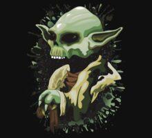 Yoda Jedi Master Skull  Kids Tee