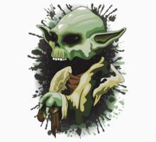 Yoda Jedi Master Skull  One Piece - Short Sleeve