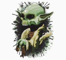 Yoda Jedi Master Skull  Baby Tee