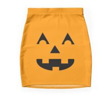Jack O Lantern Face Mini Skirt