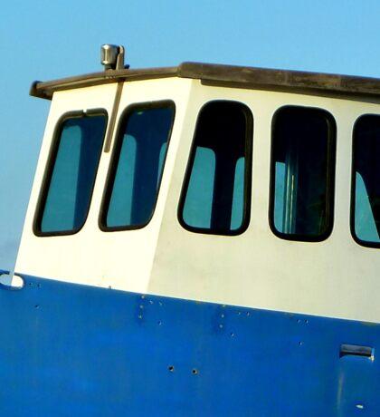 Blue boat Sticker
