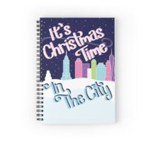 Christmas Time In The City Spiral Notebook