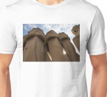 Whimsical Chimneys - Antoni Gaudi, La Pedrera, Barcelona, Spain Unisex T-Shirt