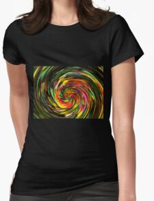 Psychedelic Wave Womens Fitted T-Shirt
