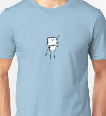DOUBLE YOU the robot - white BG Unisex T-Shirt