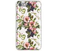 Wild Roses Floral Bouquet Pattern iPhone Case/Skin