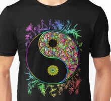 Yin Yang Bamboo Psychedelic Unisex T-Shirt