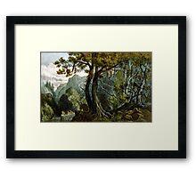 Forest scene summer - 1880 - Currier & Ives Framed Print