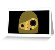 Laputa- Robot Head Vector Greeting Card