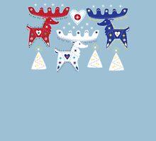 Three Folk Reindeer Womens Fitted T-Shirt