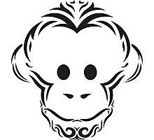 Tribal Monkey Photographic Print