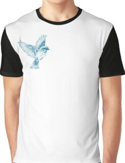 Textured Bird with changeable background color Graphic T-Shirt
