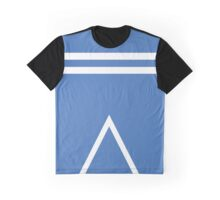 White lines on blue  Graphic T-Shirt