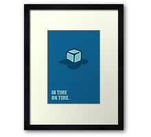 In time on time - Business Quote Framed Print