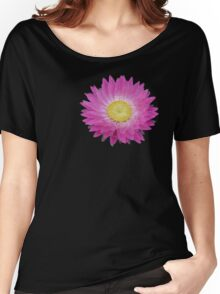Pink and Yellow Daisy Women's Relaxed Fit T-Shirt