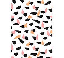 Black, Pink and Orange Brush Strokes Photographic Print