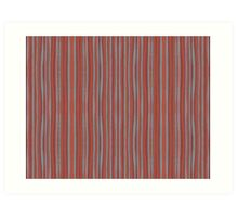 """Grey and terracotta stripes"" abstract pattern, pastel, grey and terracotta, earth tones Art Print"